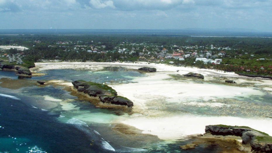 Watamu during the low tide