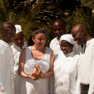 Silvia and the kitchen team
