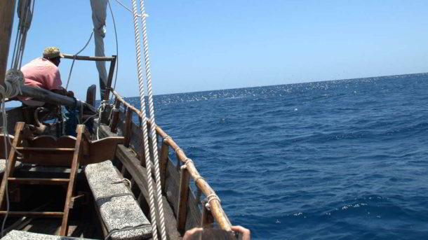 Sailing on a dhow in Watamu